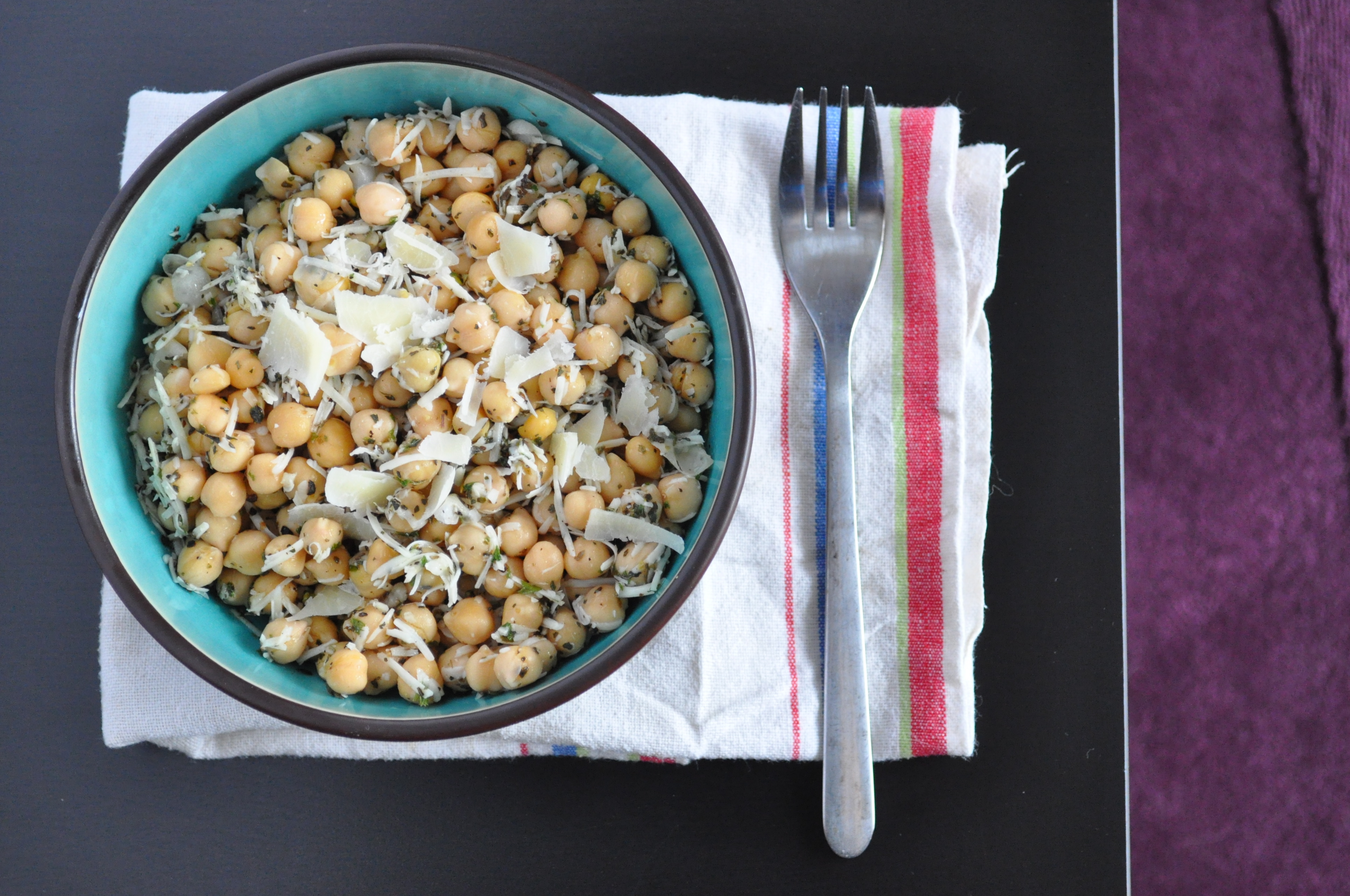 Chickpea Salad with Lemon, Parmesan, and Herbs (from Bon Appétit ...