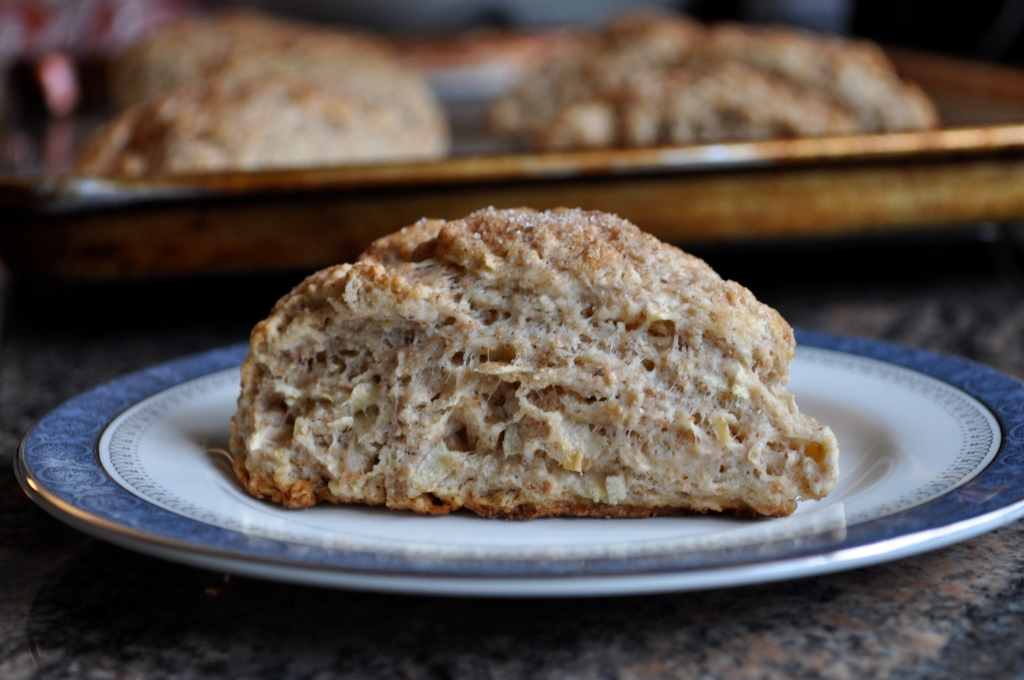 Welcoming Fall | Whole Wheat Apple Cinnamon Scones